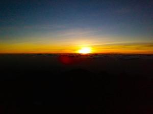 Lever du soleil - Mont Kenya - 4985m