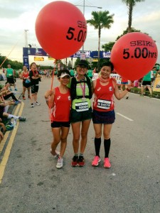 Finish line Penang Marathon