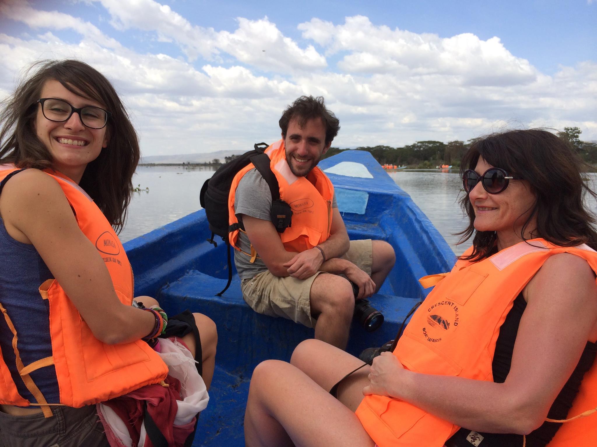 Sur le bateau avec Thibault et Florence