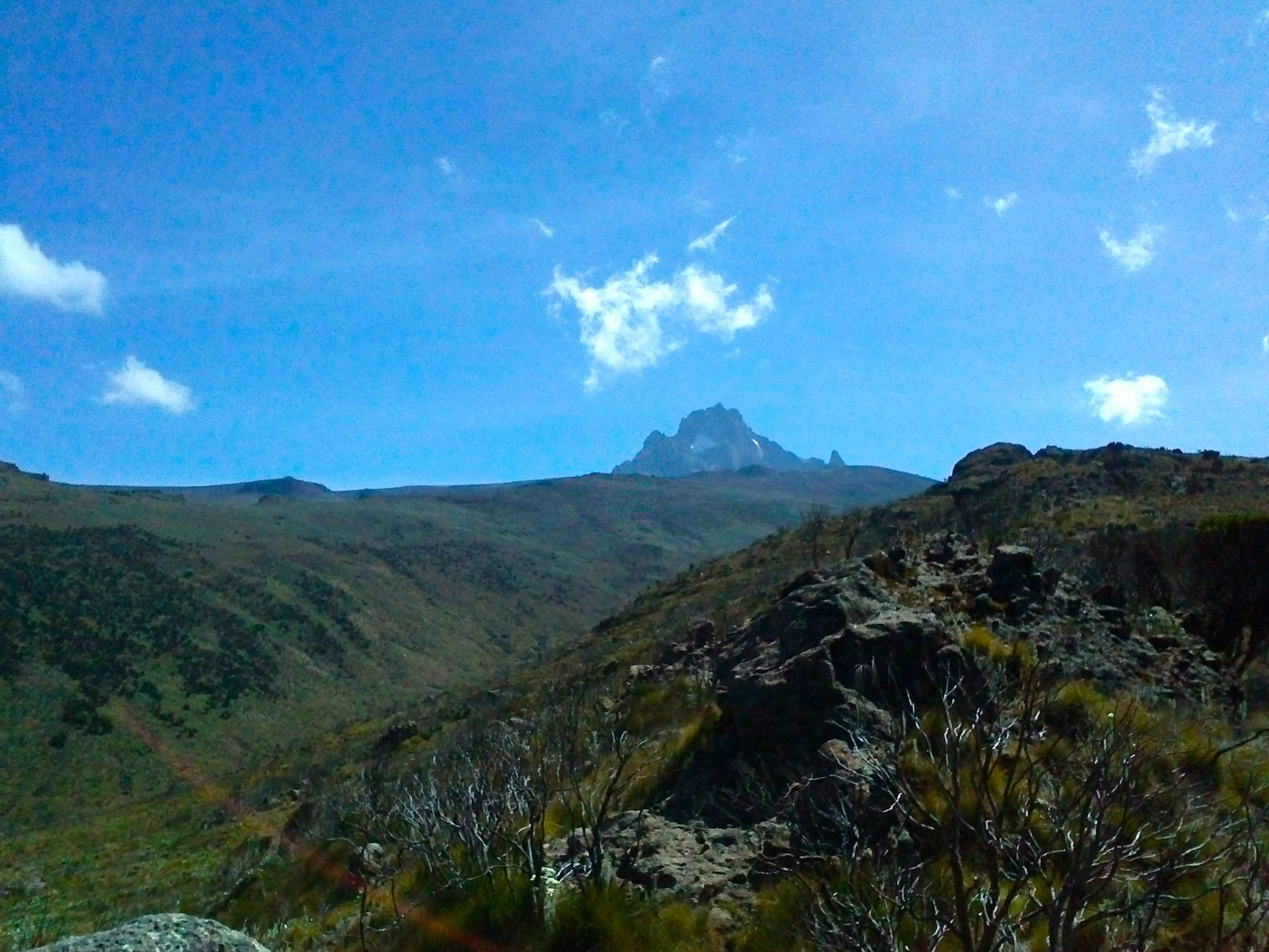 Vue sur le Mont Kenya