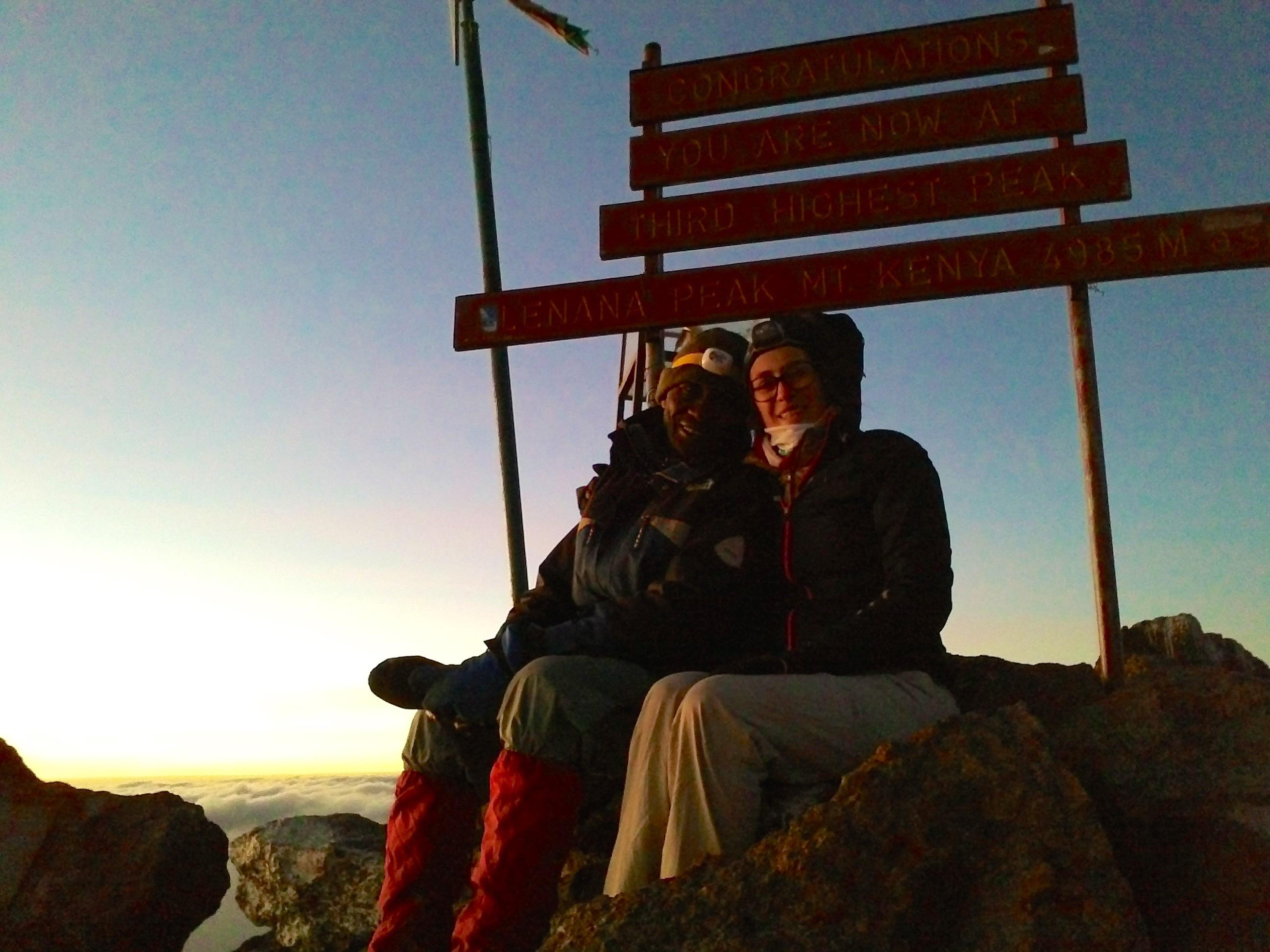 Arrivés au sommet du Mont Kenya – 4985m