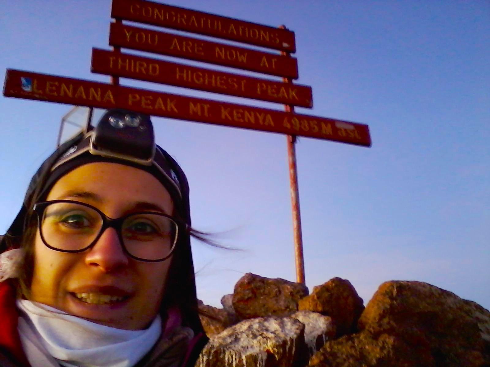 Selfie Mont Kenya – 4985m