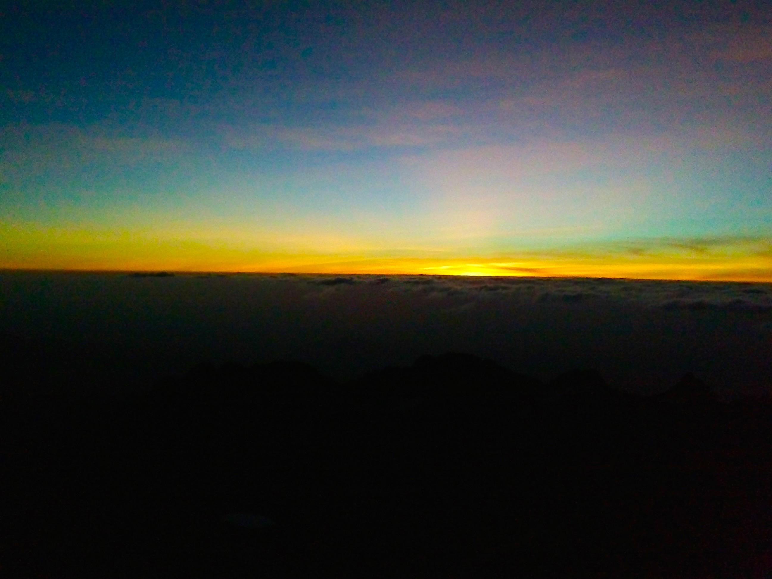 Lever du soleil – Mont Kenya – 4985m