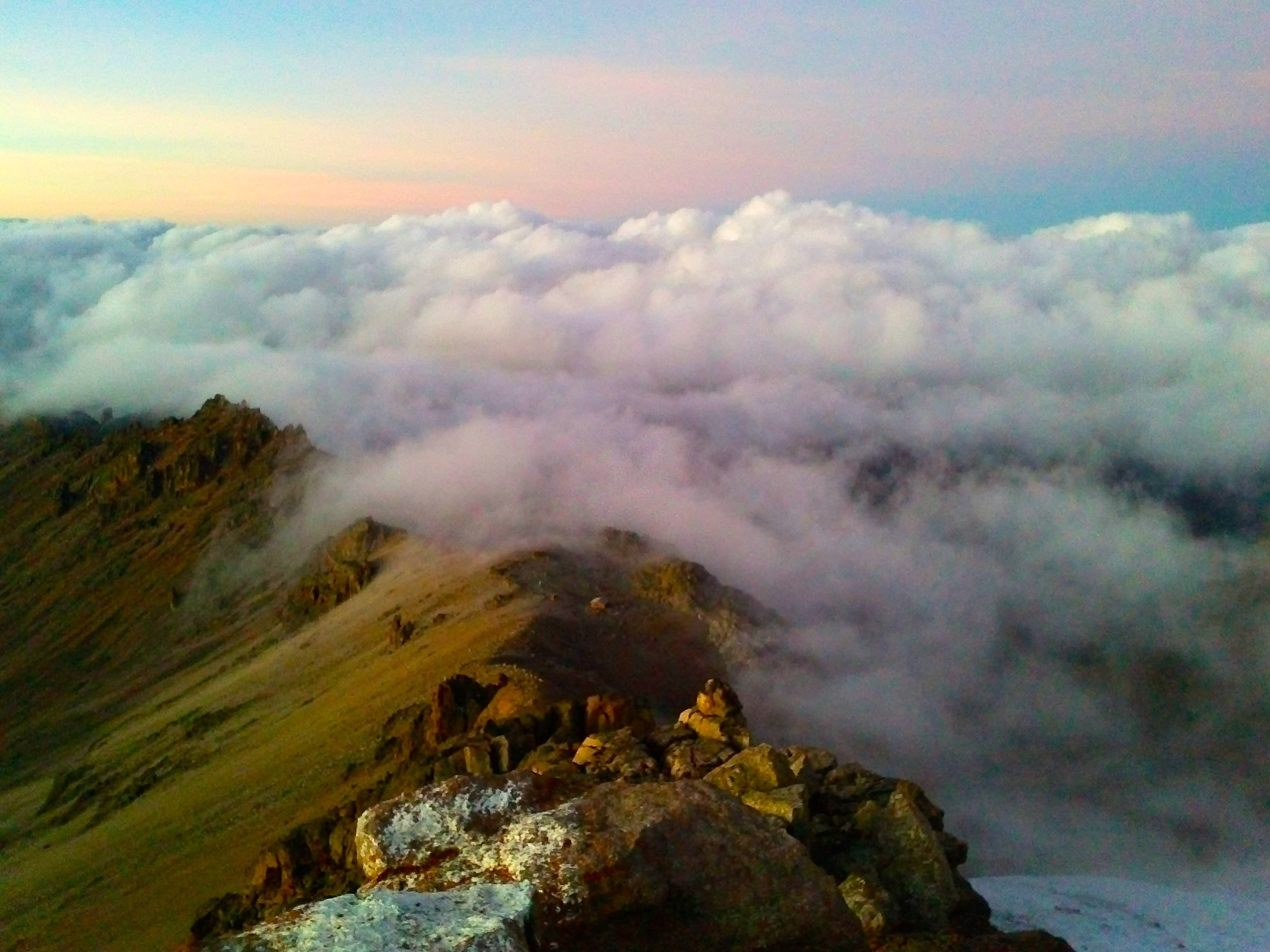La vue du Mont Kenya – 4985m