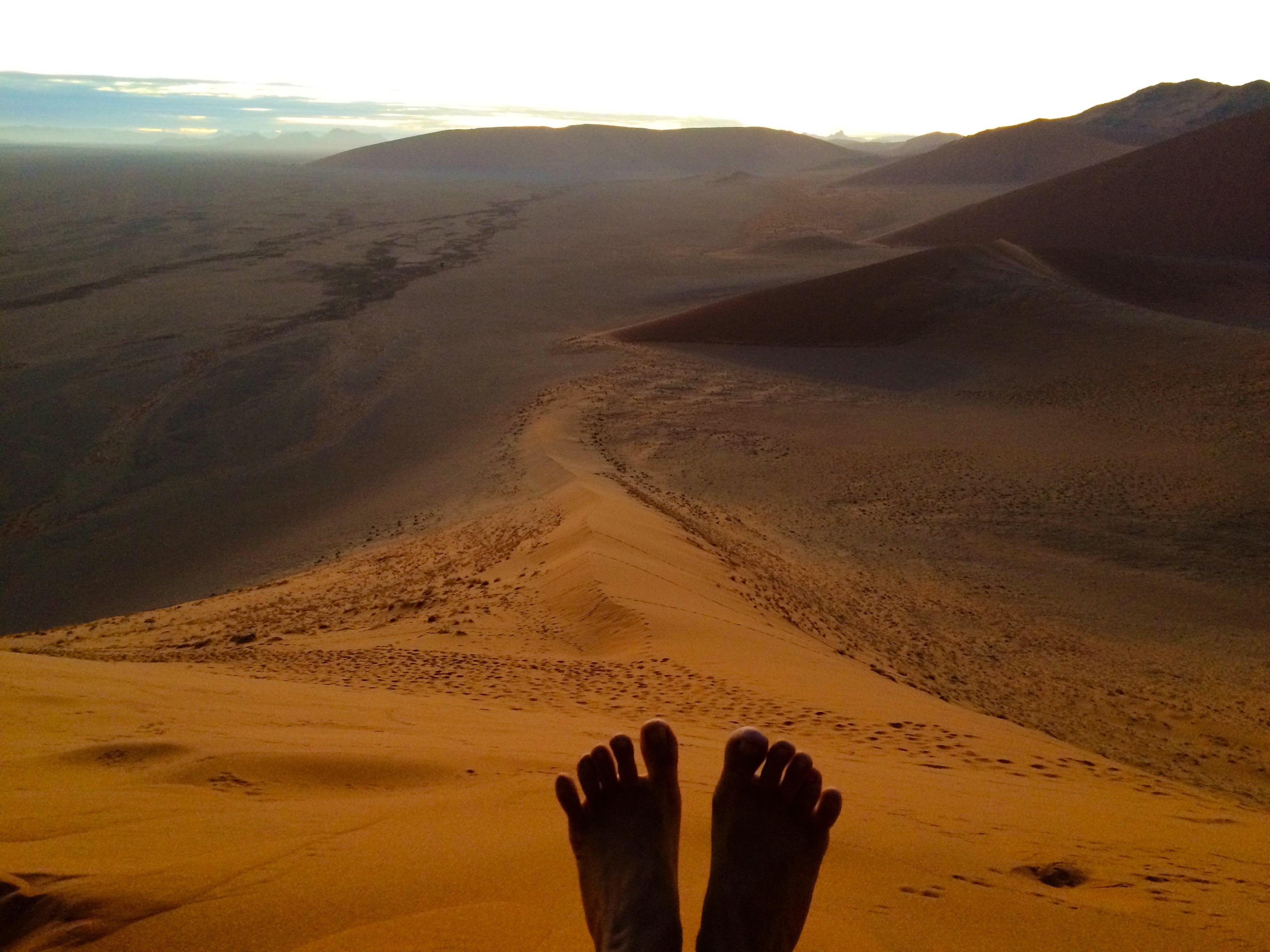 Relax avant la redescende de la Dune 45