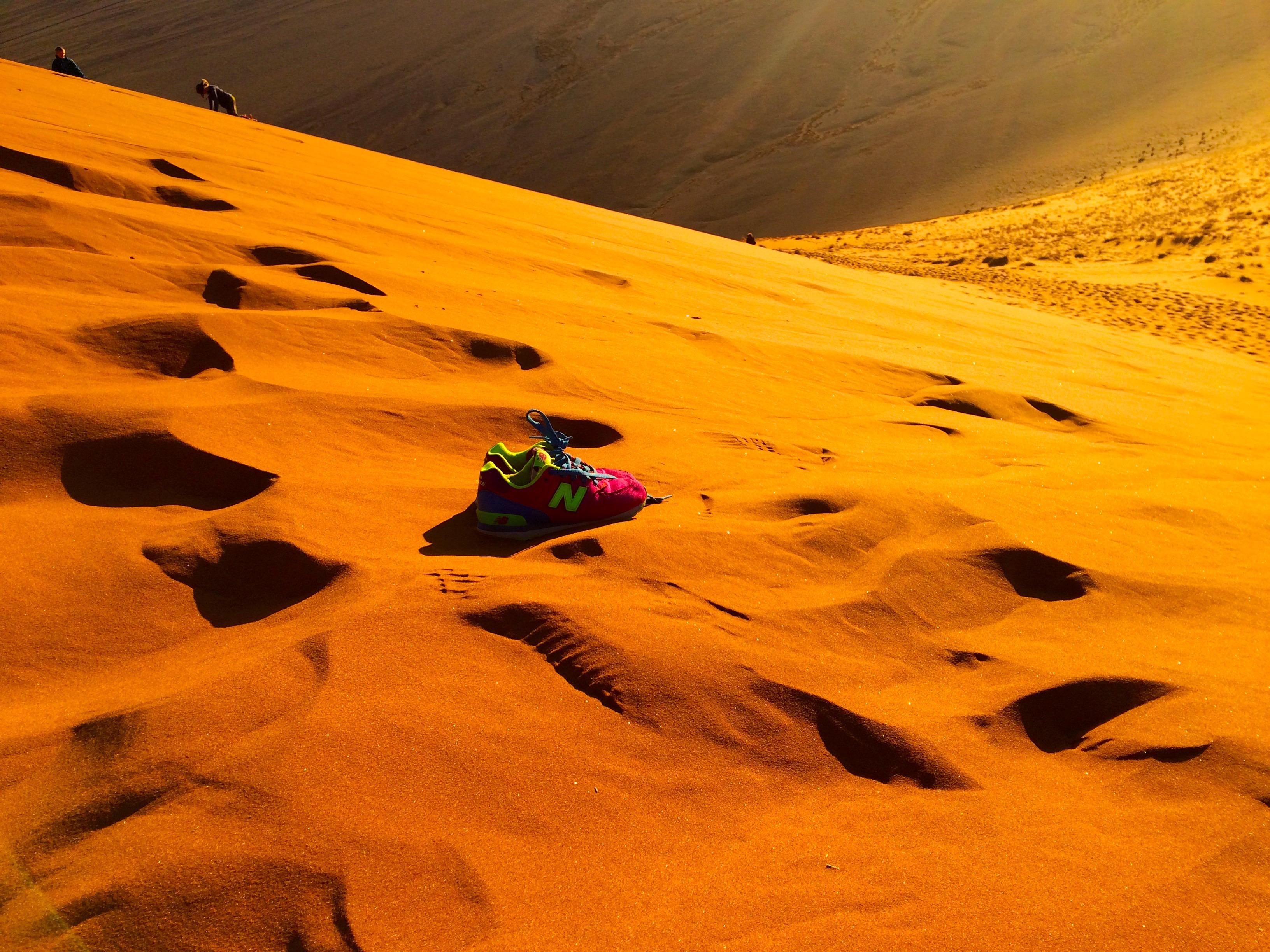 Des baskets dans le desert…