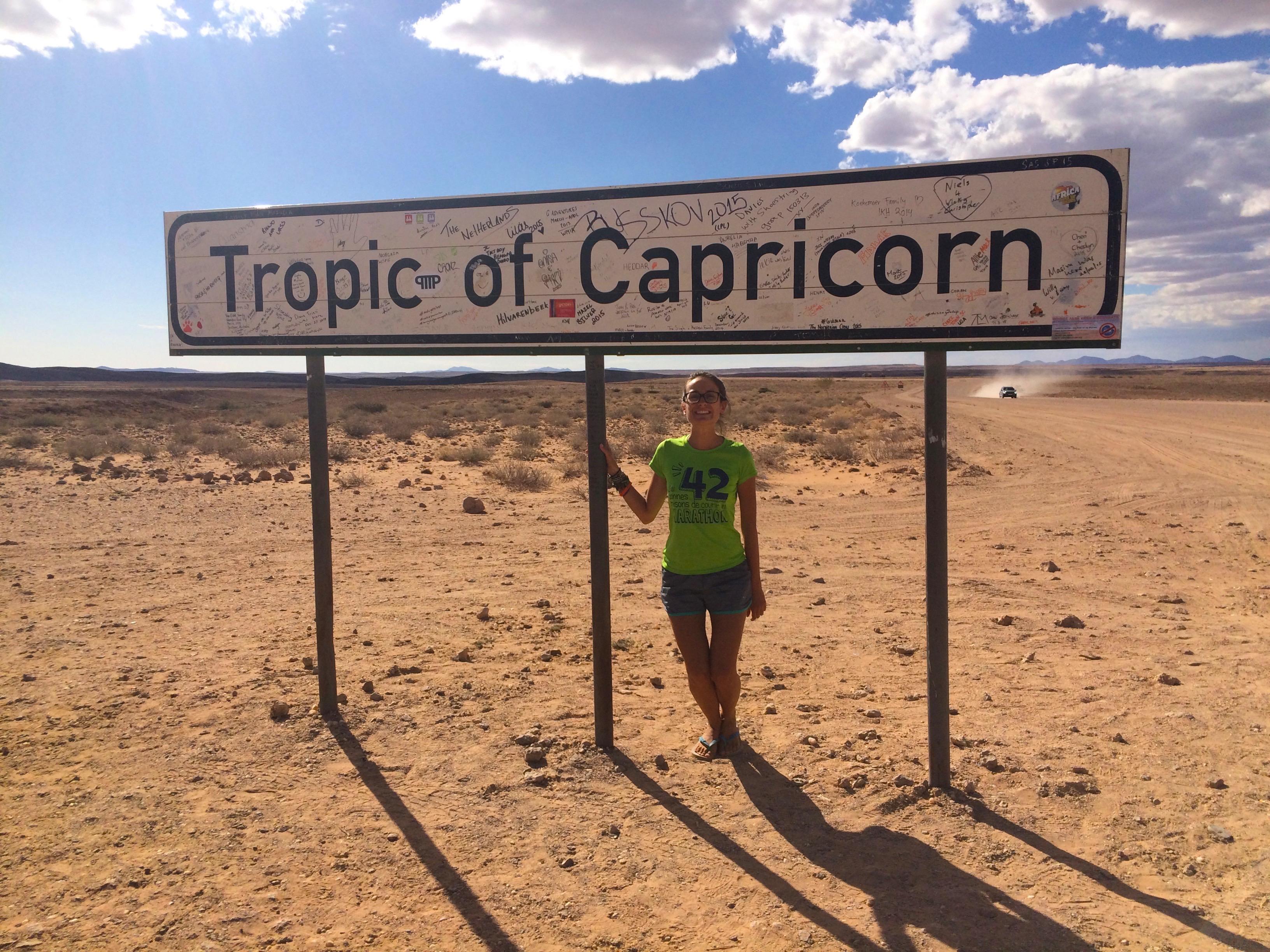 Croiser le tropique du Capricorne