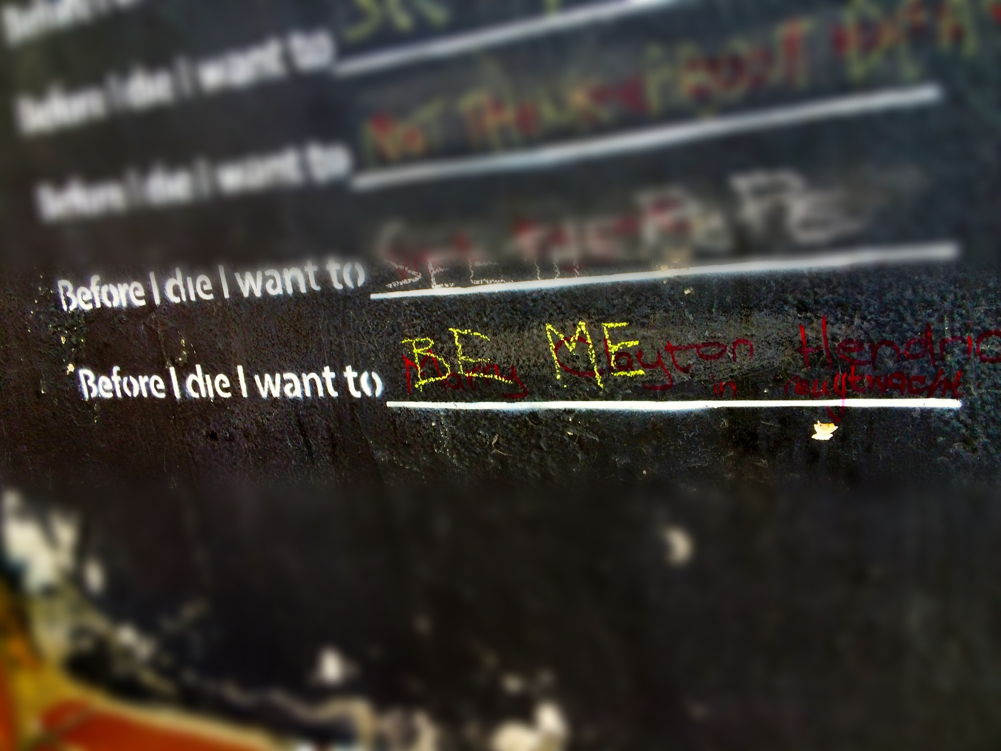 Before I die I want to be… ME