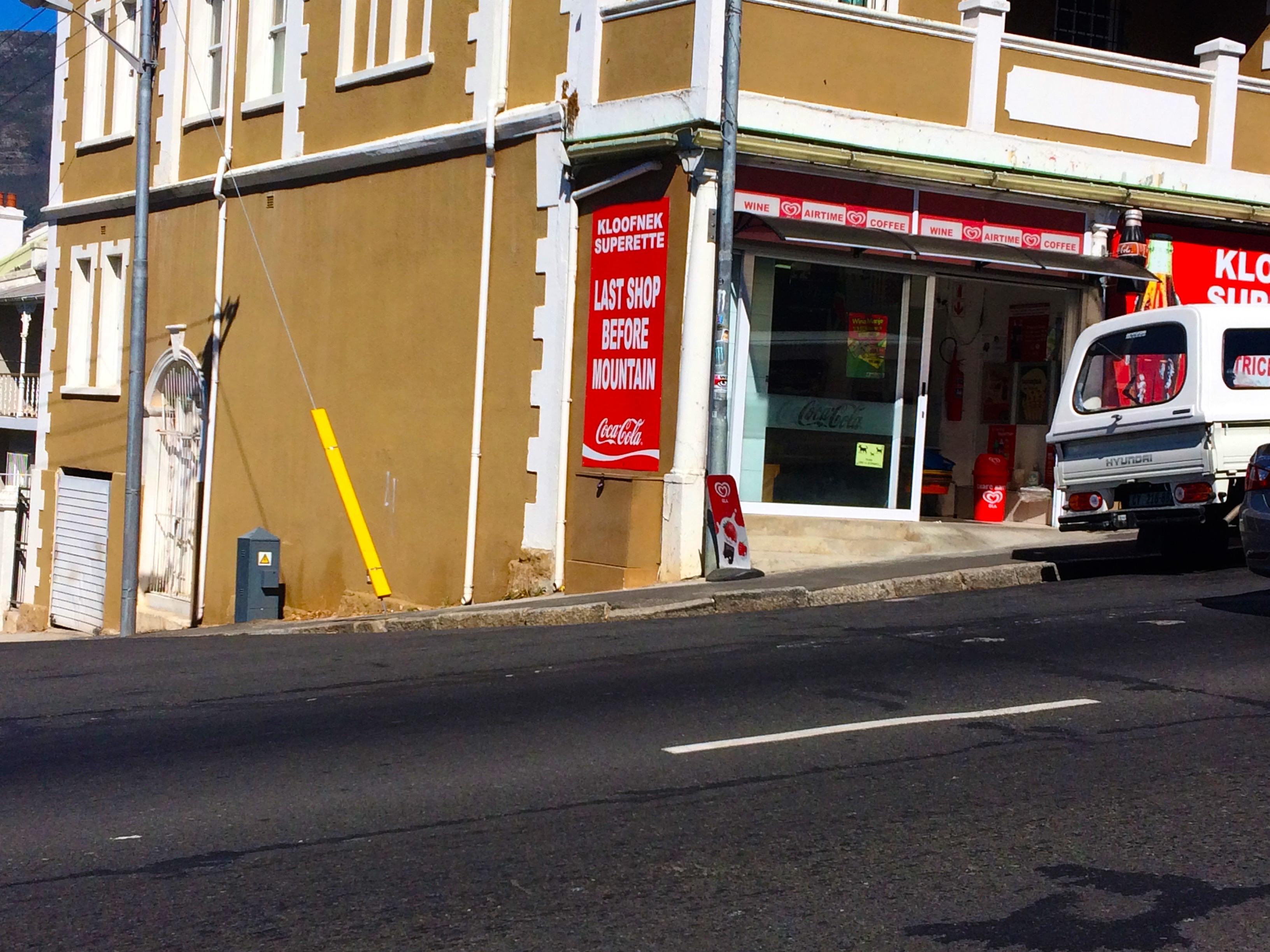 Dernier supermarché avant l'ascension de Table Mountain
