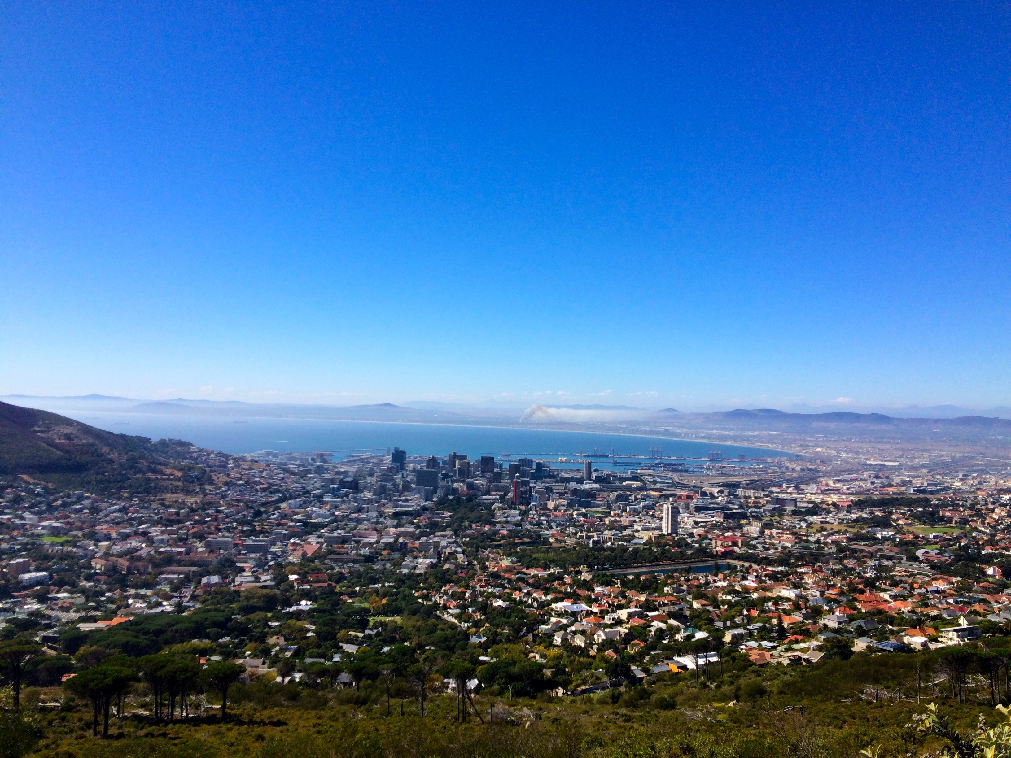 La vue de Table Mountain