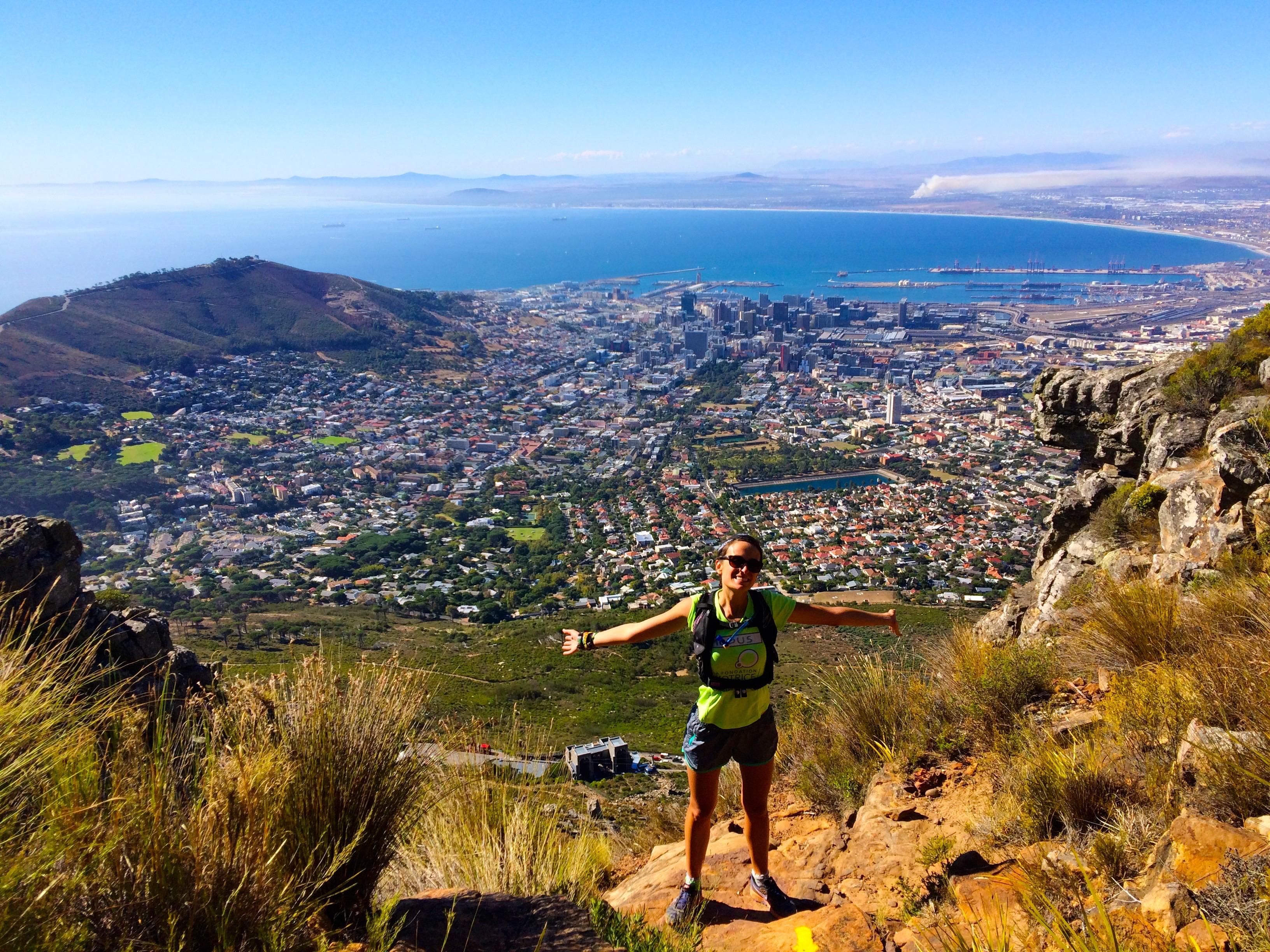 Face à Cape Town – à la moitié du chemin