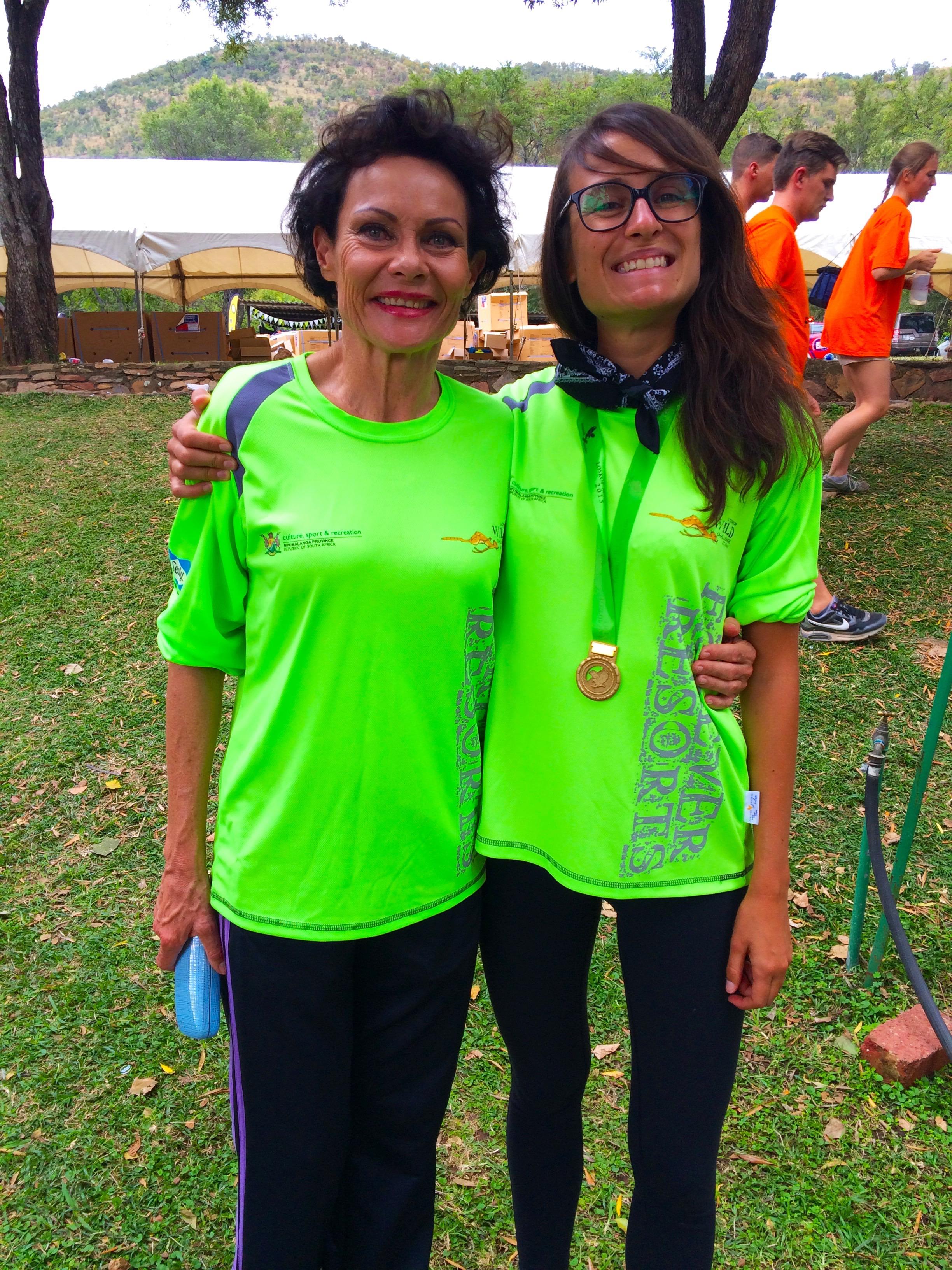 Frances, 60 ans et gagnante du semi marathon dans sa catégorie