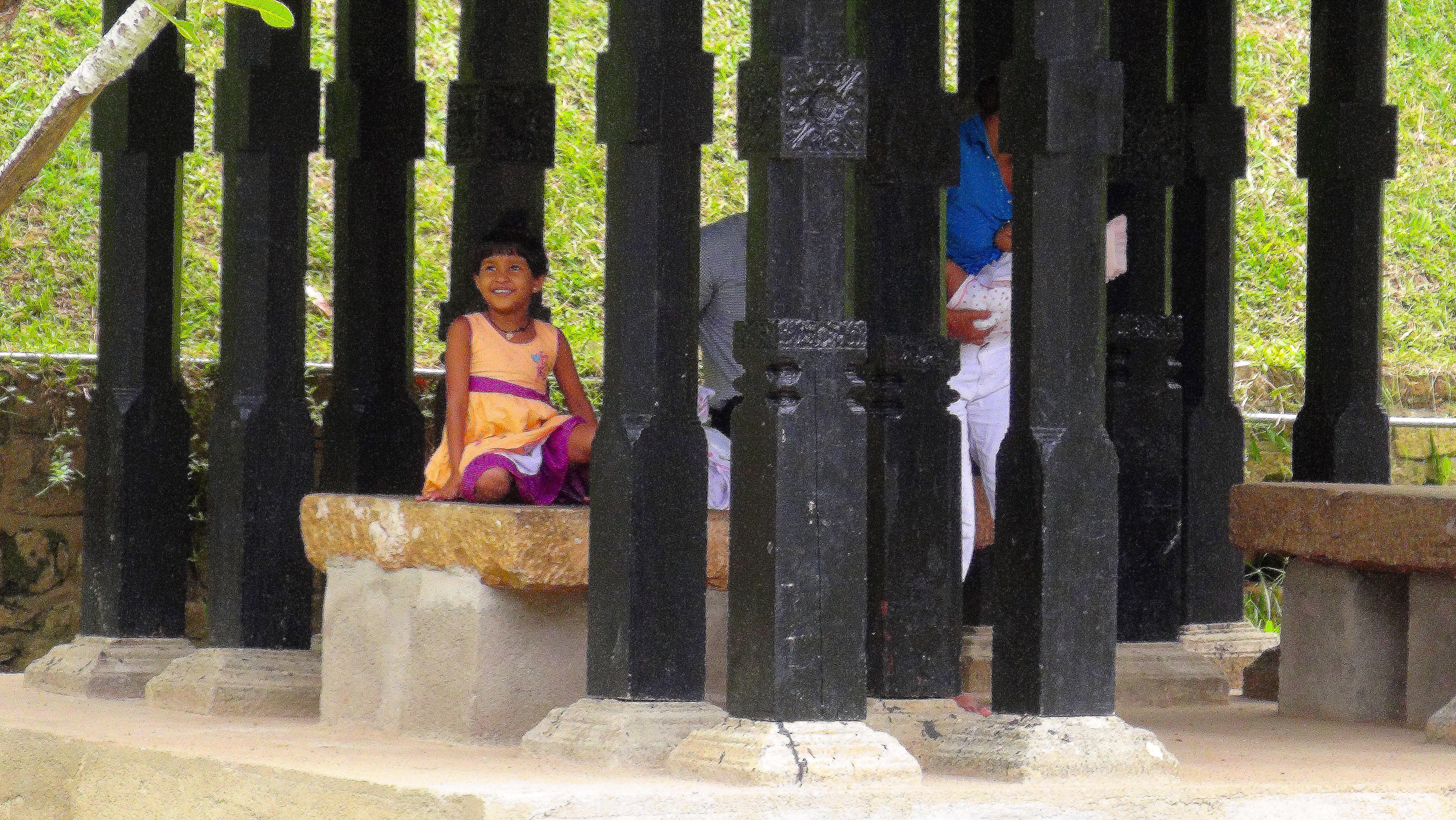 Fillette avec un des plus beau sourire que j'ai vu – Kandy