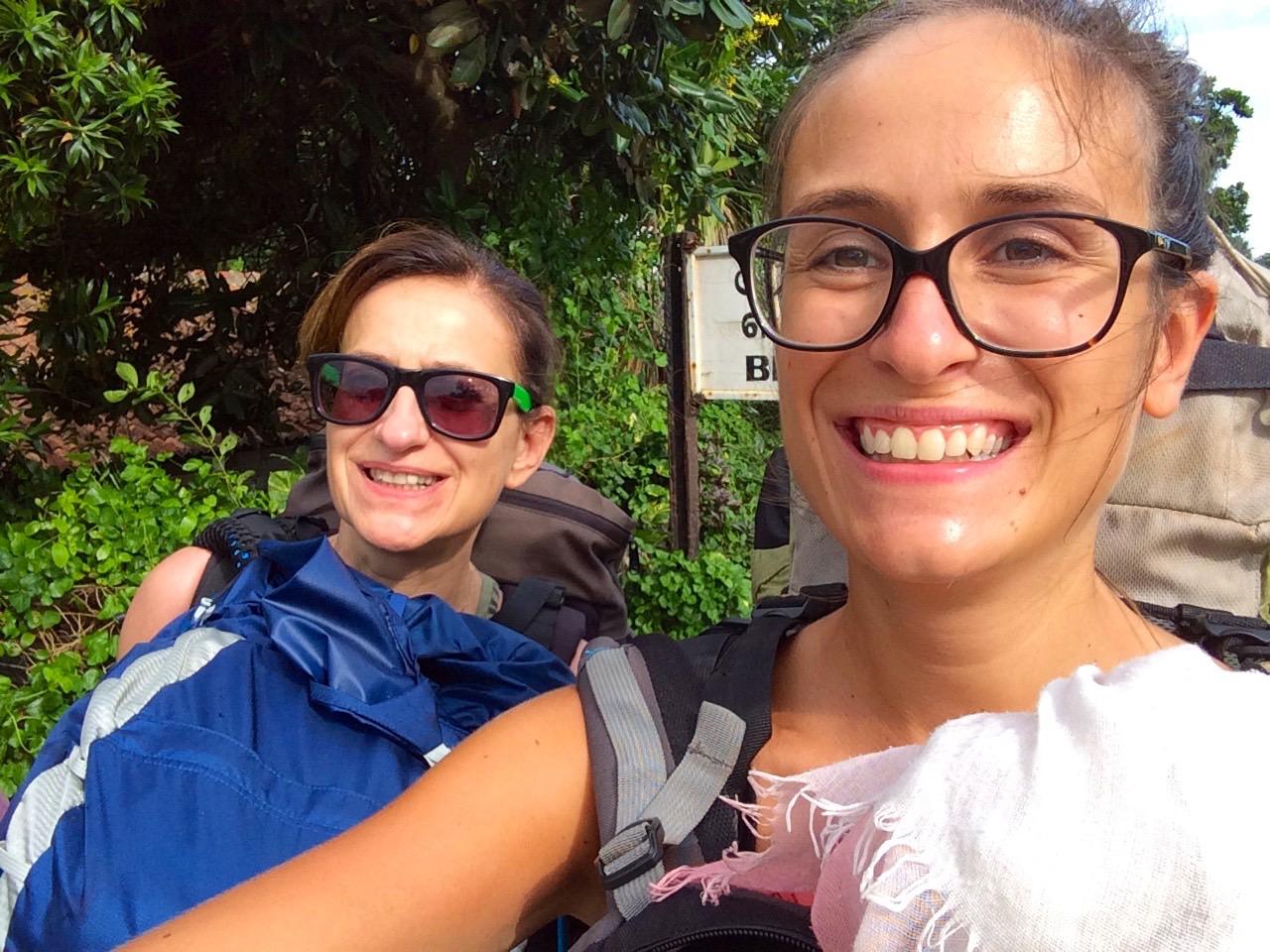 Mère et fille selfie