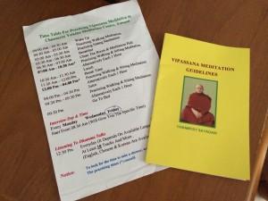 Vipassana planning